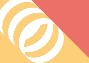 cilinder vorm oranje geel wit